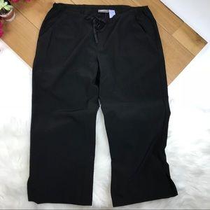 Freestyle Pants - Black Lightweight Drawstring Crop Pants #616